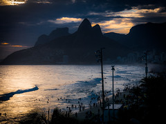 Ipanema (ravalli1) Tags: ipanema sunset rio brazil 2016 vacations sea beach riodejaneiro people women brazilian panasonic lumixdmclx100