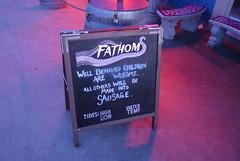 Great Sign at Fathom Bistro, Shelter Island, San Diego, Calif. (wolfmanradio) Tags: sign fathombistro shelterisland sandiego california