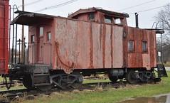 Coldwater, Michigan ( 4 of 10) (Bob McGilvray Jr.) Tags: coldwater mi michigan caboose wood wooden red cupola railroad train tracks bo baltimoreohio littleriverrailroad