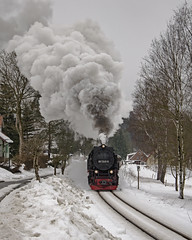 Abfahrt Von Sorge (Nigel Valentine) Tags: sorge harz german narrow gauge steam snow 997245