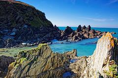 From the back of Burgh 1 (Rpearson86) Tags: bigbury devon coast water sea blue rocks rockpools sky spring sunshine clear burgh island