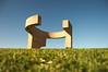 "Serie ""Elogio del Horizonte"" - 4 (bormanp) Tags: asturias gijón monumento horizonte cielo verde azul elogio hierba arquitectura aprendiendo"
