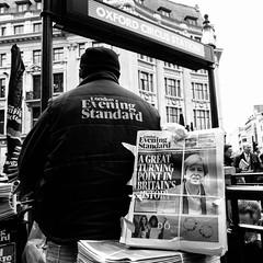 TurningPoint - Oxford Circus (stevedexteruk) Tags: brext article 50 europe britain eu european community london westminster city oxfordcircus eveningstandard standard newspaper politics news 2017