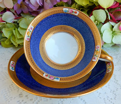 Tiffany & Co. Cauldon English Porcelain Cup & Saucer ~ Cobalt ~ Gold (Donna's Collectables) Tags: tiffany co cauldon english porcelain cup saucer ~ cobalt gold