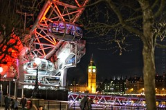 • The city • (alessandrociacci1) Tags: beautiful travel 50mm night shoot cityscape tamigi londoneye bigben england city londra london
