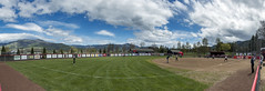 Take Me Out to the Ballgame (acase1968) Tags: 11photo photomerge sou softball raider field southern oregon university ashland clouds partly cloudy before storm nikon d500 nikkor 24120mm f4g grizzly peak