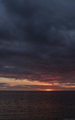 By the Roadside (peter_hasselbom) Tags: lekarve gotland balticsea baltic settingsun sunset landscape sky clouds sea sun fujifilm