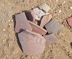 P5030169c Pottery shards. Deir el-Hagar Roman Temple, Dakhla Oasis, Egypt. 3rd May 2006 (Paul Ealing 2011) Tags: pottery shards deir el hagar roman temple dakhla oasis 3 may 2006