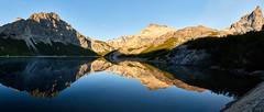 Morning Mirror in Patagonia (Photo_Flow) Tags: patagonia argentina southamerica 7dii panorama landscape landschaft mirror spiegel sunrise sonnenaufgang lake bergsee lagunajakob nuahelhuapi nationalpark