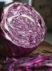 Cabbage: Three Views (~ Liberty Images) Tags: redcabbage veg veggie vegetable purple donttheystrikeyouasmorepurpley cooking food dinner