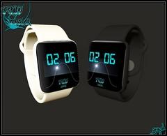 Watch Phone (SL time) White & Black (syddarkaless) Tags: tcod design mesh watch phone sl time white black unrigged
