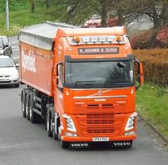 R Adams OP65 RAS at Welshpool (Joshhowells27) Tags: radams volvo fh lorry truck henleyinarden bulk animal feed
