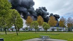Waar rook is... (Peter ( phonepics only) Eijkman) Tags: amsterdam zaandam zaanstad zaan zaanstreekwaterland noordholland noordzeekanaal haven harbour ferry pont pontveer hempont nederland netherlands nederlandse holland