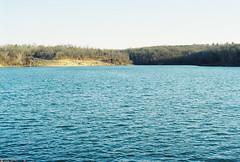 choppy water rip me up (nerve jamming) Tags: nikkormat nikon film analog kodak fujifilm color blue lake outdoor kansas water