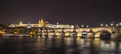 Castle on the hill (Toukensmash) Tags: rain rainy evening night prague prag bridge sony alpha58 sigma1020 long exposure river light czech republic karlův most hradschin castle traveling trip hill tschechien dark lightroom cityscape panorama city boat zlata