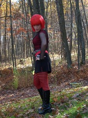 Gelfwings is goth (thetab3) Tags: gothic punk goth belt boots stripedtights redhair wig gelfwings