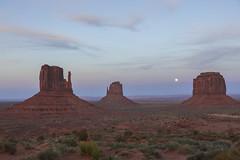 Moonrise - Monument Valley (twohamstersca) Tags: arizona monument valley moonrise rocks blue sky canon5d landscape