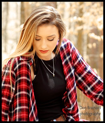IMG_4212_Girl in a flannel shirt...glamorous (donaldbrainard1) Tags: natural naturallight girl hair blonde pretty posing model gorgeous canon 7d photography color expression demure mood outdoors lighting female woman person flannel shirt top necklace looking wonderful warmth soft teen