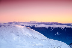 A look at Pirin at sunset, from the ridge of Rila (Toni Terziev) Tags: rila mountains mountain landscape landscapes bulgaria beautiful sunset ridge snow