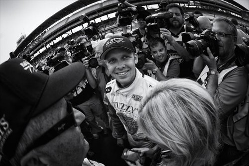 Ed Carpenter wins the pole position