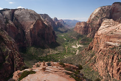 Zion Canyon View (no3rdw) Tags: park outdoors utah dangerous rocky hike landing trail national angels zion steep