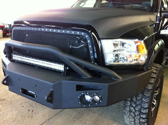 truck bumper dodge ram lifts linex lightbar rigid truckaccessories