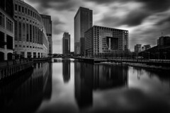 Dark Waters (www.paulshearsphotography.com) Tags: road longexposure bridge homes winter light blackandwhite bw reflection water monochrome architecture docks work buildings mono daylight blackwhite high bright path smooth bank business flats cc adobe lee wharf tall canarywharf dlr citigroup banks offices finance citi heronquays jpmorgan morganstanley cliffordchance heronquay 10stop 10upperbankstreet niksoftware mackenziewalk silverefex bigstopper cliffordchancellp leebigstopper lightroom4 silverefexpro2 niksilverefexpro2 adobelightroom4 nutraldenstiy nutraldenstiyfilter