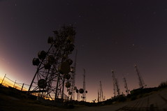 Radio towers (rileymauk) Tags: california longexposure nightphotography cali night canon stars outdoors rebel view offroad peak socal slowshutter nightsky xsi radiotowers mountainpeak santaanas santiagopeak 450d radiosite saddlebackmtn