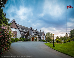 Government House Approach (Cameron Knowlton) Tags: panorama house canada stone architecture nikon bc dusk britishcolumbia pano panoramas columbia victoria panoramic architectural potd government british panos governmenthouse d600