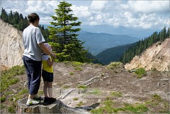 Enjoying the view | Apuseni mountains, Transilvania (Stefan Cioata) Tags: trip family summer vacation panorama holiday mountains girl landscape photography looking view weekend great mother stefan romania getty carpathians apuseni caucasian cioata flickrandroidapp:filter=none