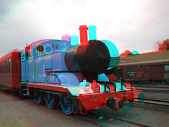 Thomas the train in Chama, NM in 3d (CaptDanger) Tags: travel usa newmexico southwest america train canon photography photo 3d picture trains anaglyph tourist steam engines nm chama redblue traincars steamtrains trainhouse americansouthwest 3dimensional southwesternus oldtrains 3dimages locamotives chamanm anaglyph3d workingsteamengines