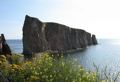the famous ROCK (Ultrachool) Tags: canada water rocks quebec mayer gaspesie monoliths gaspepeninsula rocherperce