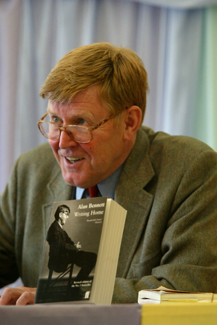 Alan Bennett signing books at the 2002 Edinburgh International Book Festival