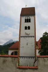 Blik op de Stadt Pfarrkirche St Mang, Fssen (Hans de Cortie) Tags: duitsland fssen beieren