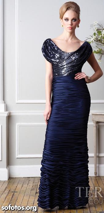 Vestido de festa drapeado de luxo