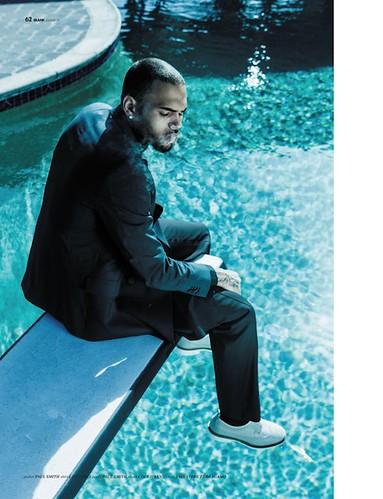 Chris Brown Blank Magazine pics