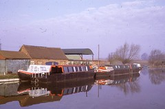 Narrow Boats in Canal Basin, Oxford Canal (The JR James Archive, University of Sheffield) Tags: canal oxford 1968 barge universityofsheffield sheffieldalumni