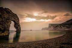 Durdle door 3 (Richee Wilson) Tags: sunset summer seascape water sunshine landscape cove dorset durdledoor jurassiccoast
