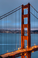 SF Lights (FarzinPhoto) Tags: sf sanfrancisco california ca city longexposure bridge urban water night bay goldengate hdr canon2470 canon5dmarkiii farzinphoto farzinmontazersadgh
