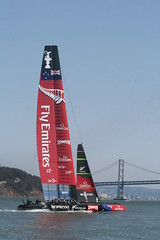SF America's Cup (shaire productions) Tags: ocean sf sanfrancisco sea sports water sport race boats photography bay boat photo sailing image picture pic photograph baybridge boating sail sfbayarea americascup boatrace 2013 newzealandboat sfamericascup