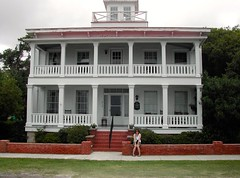 Nicole, Widows' Walk house, Southport (David McSpadden) Tags: northcarolina southport widowswalk oakislandsouthport