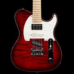 Melancon Classic T Cajun Red (distinctiveguitar) Tags: guitar tele electricguitar telecaster flamemaple melancon cajunred