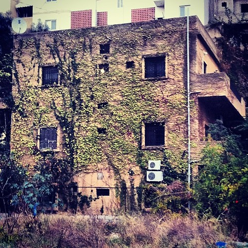 """في كل تفصيل هذا المنزل قصص تعيد حقبات الماضي، فتحاول الطبيعة لملمة الذكريات قبل ان تنهشها وحوش """"البنايات""""  #beirut #lebanon #بيروت #لبنان #منزل #house #old #green #اخضر"""