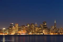 San Francisco Skyline (mariah.peters) Tags: sanfrancisco night lights cityscape baybridge thebay