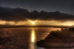 Sunrise @ Cumberland Lodge Kentucky (Klaus Ficker) Tags: usa lake water fog clouds sunrise canon kentucky rays cumberland cumberlandlodge eos5dmarkii klausficker