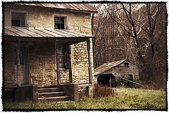 Tin roof, rusted. Time and opportunity since past on the  Illinois River Road State Highway. (Ronald (Ron) Douglas Frazier) Tags: abandoned farmhouse rural landscape illinois midwest decay farm forgotten homestead prairie agriculture tinroofstonerusted