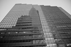 Reflecting on 2013 (Narratography by APJ) Tags: nyc newyorkcity blackandwhite bw ny reflection skyscraper highrise wtc apj narratography
