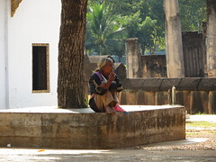 Thailand - woman at Sukhothai Wat 01 (ashabot) Tags: people thailand buddhism temples wat streetscenes sukhothai