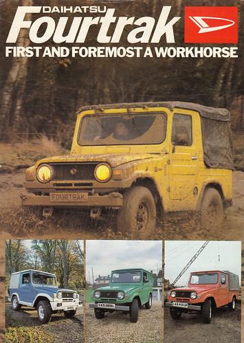 1981 Daihatsu Fourtrak UK brochure 1 - a photo on Flickriver