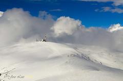 Bola del mundo (Sparrowhawk gavilan) Tags: madrid del arbol la nieve valle paisaje sierra nubes bola montaa mundo niebla nevado maliciosa sierrademadrid boladelmundo sierraguadarrama